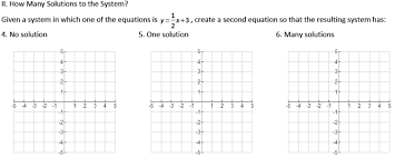 systems of linear equations easing the hurry syndrome