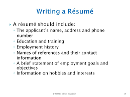 a resume should include chapter 7 selection i applicant screening ppt video online download