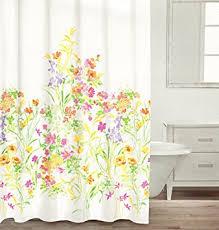 Botanical Shower Curtains Caro Botanical Nature 100 Cotton Shower Curtain