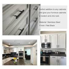 kitchen cabinet hardware black 3 inch matte black cabinet pulls 3 inch 76mm stainless steel lsj22bk