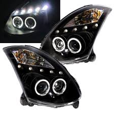 nissan skyline xenon lights skyline v35 2003 2007 coupe led angel eye projector headlight