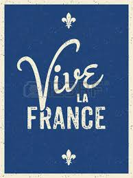 text design greeting card for the french national day july 14