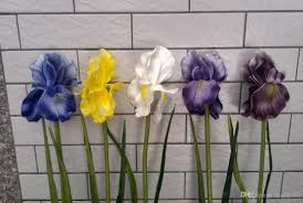 Artificial Flowers Home Decor 2017 real touch flowers latex artificial bi iris orchid flowers