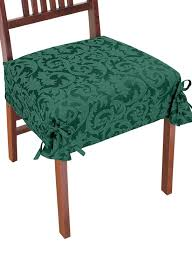 dining room ethnic red dining chair seat cover with printed