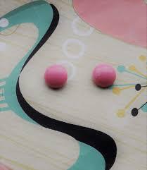 rockabilly earrings pink stud earrings 1950s inspired earrings 50s pin up earrings