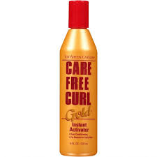 care free curl activator on natural hair care free curl gold instant activator 8 oz