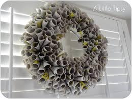 diy under 5 phone book wreath a little tipsy