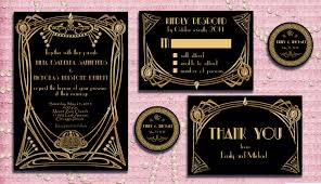 great gatsby wedding invitations great gatsby style deco wedding invitation suite with rsvp
