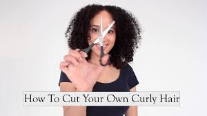 how to cut your own curly hair in layers how to cut your own curly hair at home youtube
