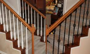 stair artistic home interior and half turn staircase decoration