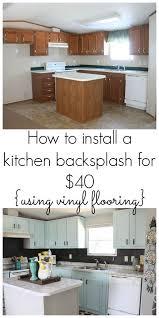 Stick On Kitchen Backsplash by Best 20 Vinyl Backsplash Ideas On Pinterest Vinyl Tile