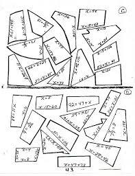 solving equation worksheets free