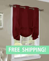 Tie Up Curtains Weathermate Solid Grommet Top Tab Top And Tie Up Curtains