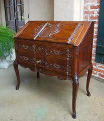 bureau louis xv antique carved oak desk bureau louis xv drop