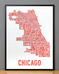 Pink Line Chicago Map by Chicago Neighborhood Map 18