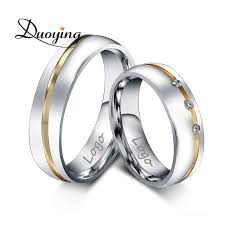 ebay rings silver images Duoying custom name wedding rings for ebay amazon with engraving jpg