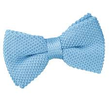 blue bows men s knitted baby blue bow tie