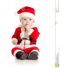 baby boy christmas christmas baby boy in santa claus clothes royalty free stock