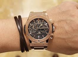 hublot gold bracelet images Hublot classic fusion aero chronograph stuns in rose gold king jpg