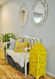 Yellow And Gray Wall Decor by Decorating Awesome Cutting Edge Stencils For Elegant Interior