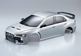 silver mitsubishi lancer killerbody mitsubishi lancer evolution rc cars rc parts and rc