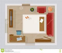 Wohnzimmerm El Set Wohnzimmer Mit Draufsicht Der Möbel Vektor Abbildung Bild 66139887