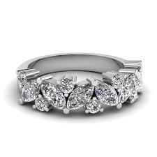 diamond wedding band for marquise diamond wedding ring in 14k white gold fascinating diamonds