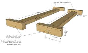 build an easy 2x4 double x bench her tool belt