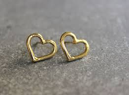 simple gold earrings simple gold stud earrings gold heart studs gold studs small