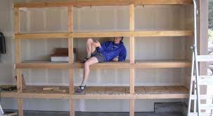 Simple Wood Shelves Plans by 29 Plans For 2x4 Garage Shelves Woodwork 2x4 Storage Shelf