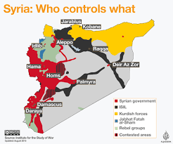 Syria World Map by Who Is Fighting Whom In Syria Nat Geo Education Blog