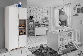 chambre bébé grise et armoire 3 portes joris chambre bebe blanc gris