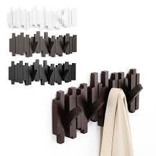 umbra coat rack sticks sculpture 5 hook wall mounted hanger purse