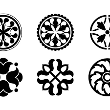 free vector circular design ornaments 9481 my graphic hunt