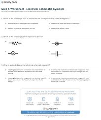 quiz u0026 worksheet electrical schematic symbols study com