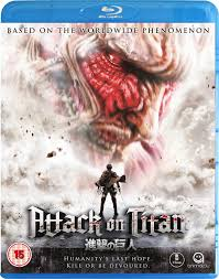 attack on titan attack on titan the movie part 1 blu ray amazon co uk