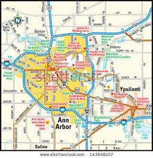 area code map of michigan arbor michigan area map stock vector 143948107