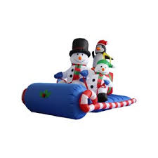 Trimming Traditions Christmas Outdoor Decorations Snowman Airblown 6 Ft by Outdoor Sleigh Decoration Wayfair