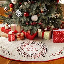 personalized tree skirt shop personalized christmas keepsakes from personal creations