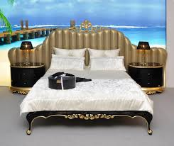 Luxury Designer Beds - florence king size bed with gold leaf luxury king size bed