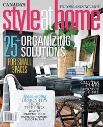 Home Design Magazines Canada Interior Design Magazines Style At Home Magazine 20 Easy Decor