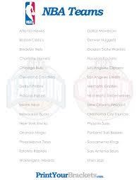 printable bulls schedule list of nba teams printable