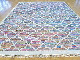 Cotton Flat Weave Rug 9 U0027 X 12 U0027 Durie Kilim Cotton And Sari Silk Flat Weave Rug Hand