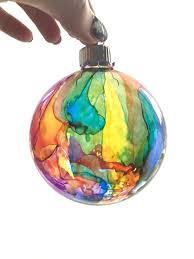 tie dyed ornaments rainbow glass tree ornaments
