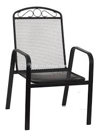 Wrought Iron Mesh Patio Furniture by Wrought Iron Mesh Back Chair Black At Home Patio Furniture