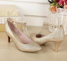 wedding shoes kitten heel 2015 gold wedding shoes bridal shoes with sequins kitten