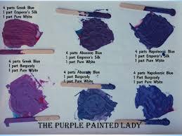 what colors make purple mixing chalk paint colors to make purples the purple painted lady