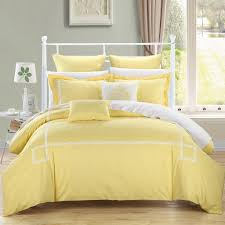 Yellow And Grey Bed Set Bedroom Interesting Purple And Yellow Floral Bedding Set Design