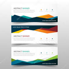 layout banner template abstract colorful polygonal banner template horizontal advertising