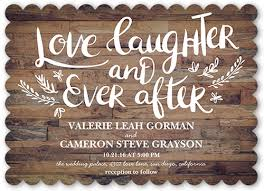 wedding invitations shutterfly and laughter forever wedding invitation card shutterfly